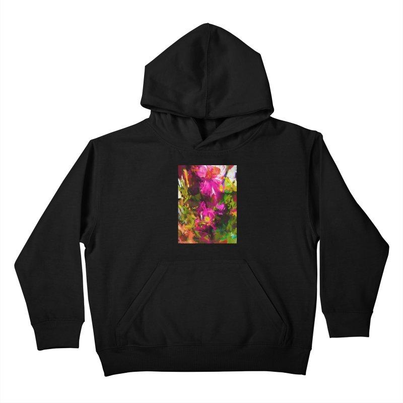Magenta Flower Buds Climb Kids Pullover Hoody by jackievano's Artist Shop