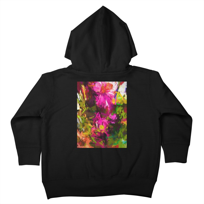 Magenta Flower Buds Climb Kids Toddler Zip-Up Hoody by jackievano's Artist Shop