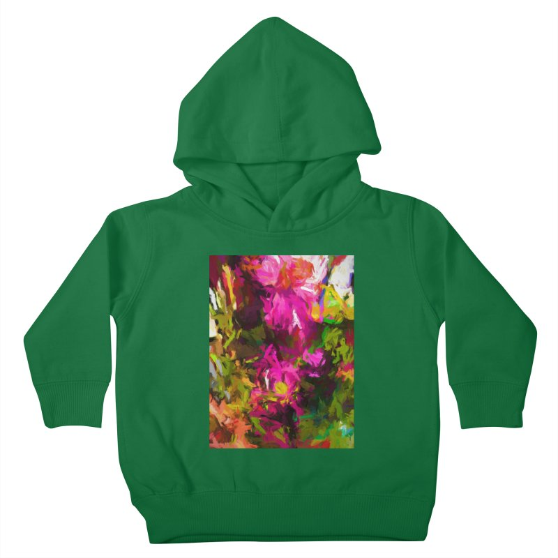 Magenta Flower Buds Climb Kids Toddler Pullover Hoody by jackievano's Artist Shop