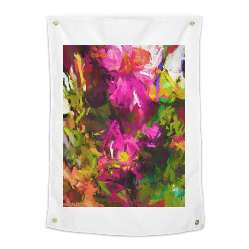 Magenta Flower Buds Climb Home Tapestry by jackievano's Artist Shop