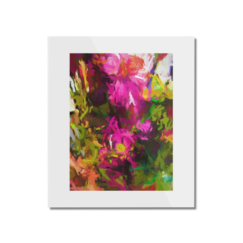 Magenta Flower Buds Climb Home Mounted Acrylic Print by jackievano's Artist Shop