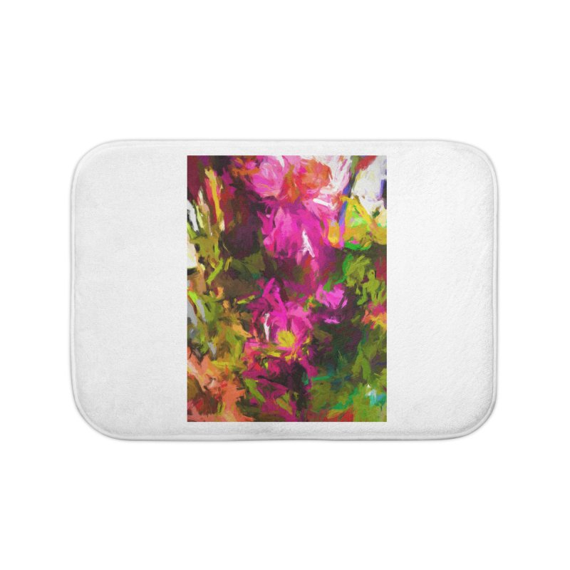 Magenta Flower Buds Climb Home Bath Mat by jackievano's Artist Shop
