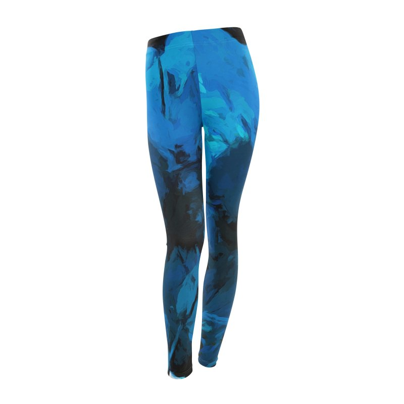 Big Blue Flower Women's Leggings Bottoms by jackievano's Artist Shop