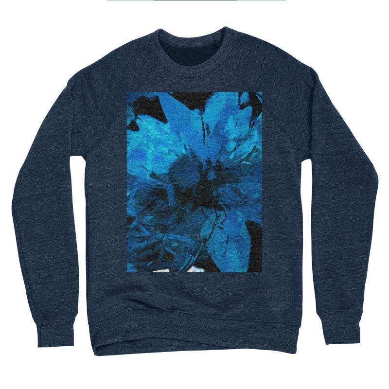 Big Blue Flower Women's Sponge Fleece Sweatshirt by jackievano's Artist Shop