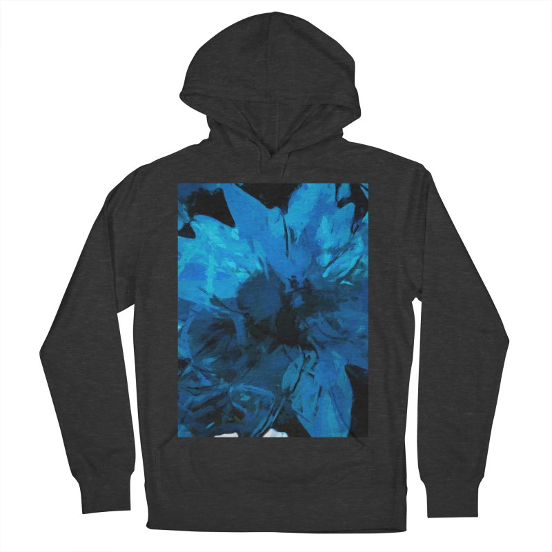 Big Blue Flower Women's French Terry Pullover Hoody by jackievano's Artist Shop