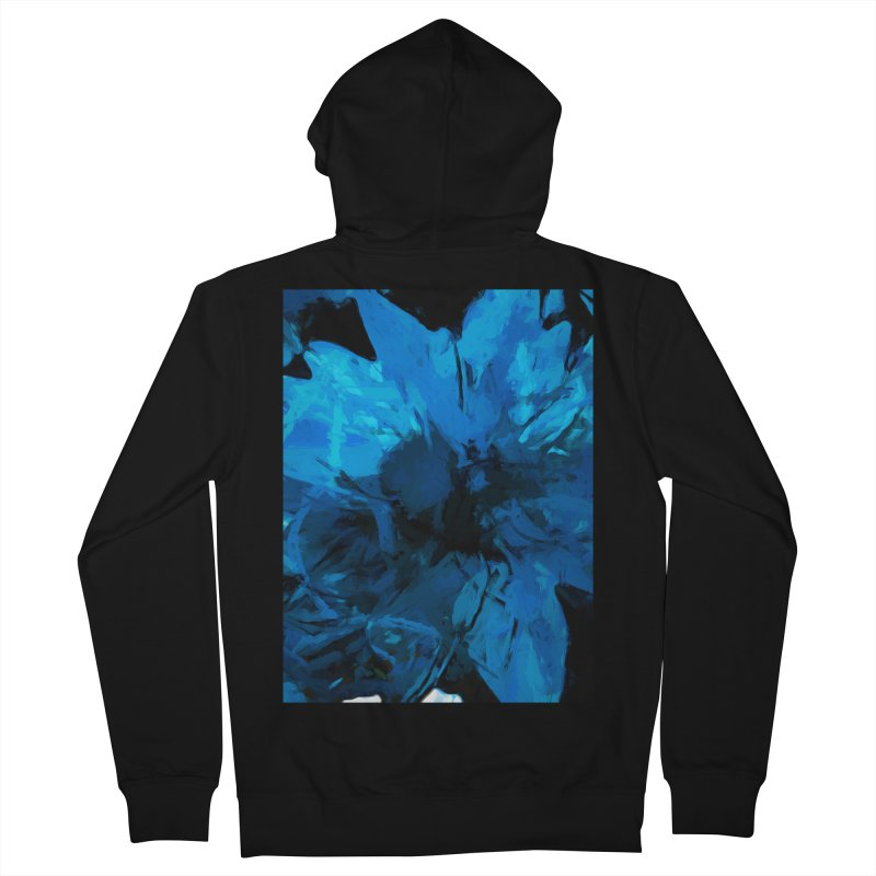 Big Blue Flower Women's French Terry Zip-Up Hoody by jackievano's Artist Shop