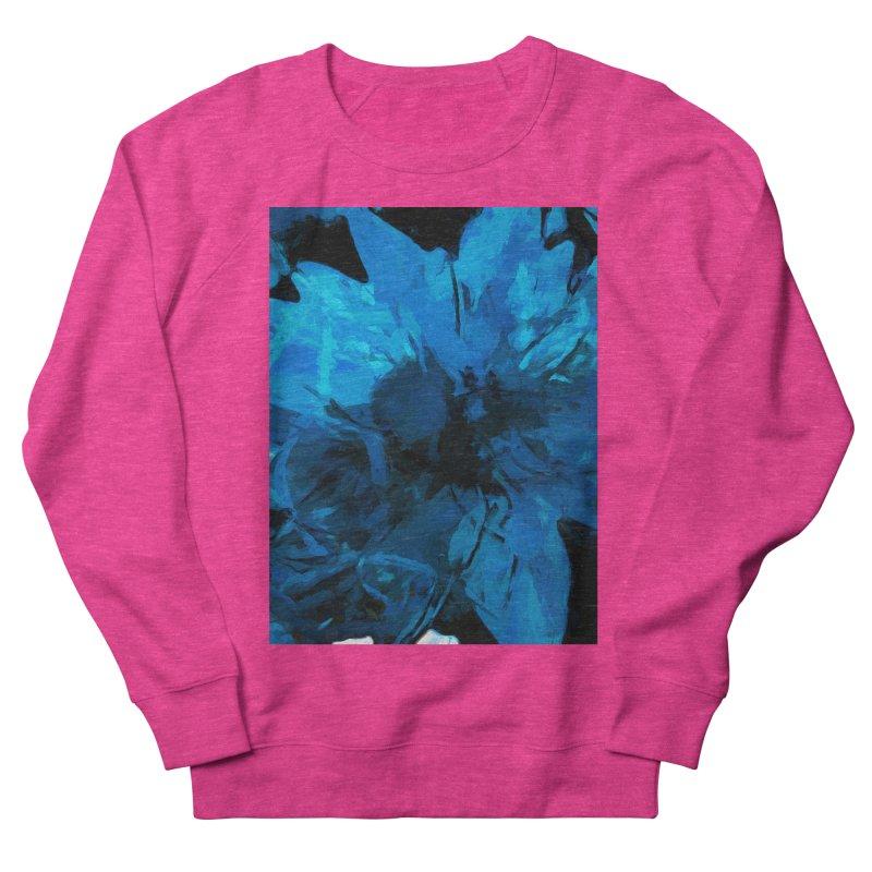 Big Blue Flower Men's French Terry Sweatshirt by jackievano's Artist Shop