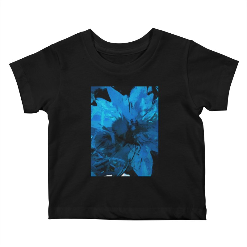 Big Blue Flower Kids Baby T-Shirt by jackievano's Artist Shop