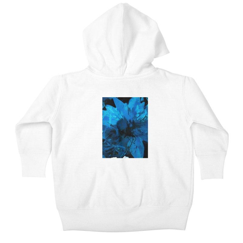 Big Blue Flower Kids Baby Zip-Up Hoody by jackievano's Artist Shop