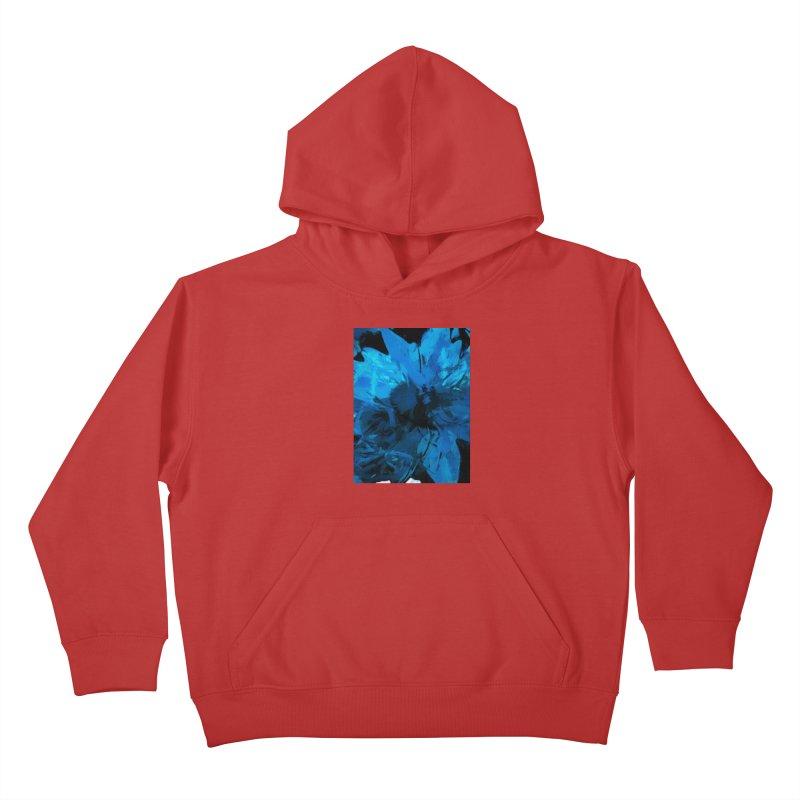 Big Blue Flower Kids Pullover Hoody by jackievano's Artist Shop