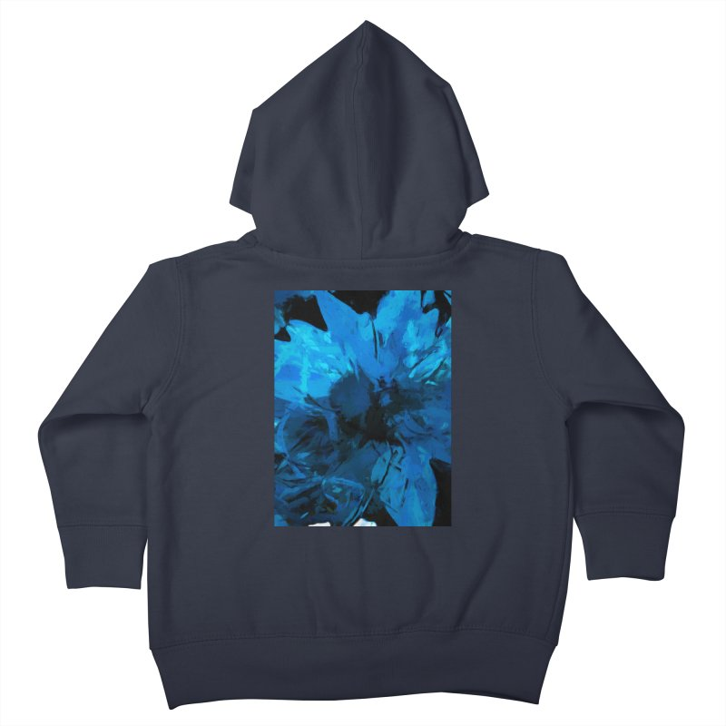 Big Blue Flower Kids Toddler Zip-Up Hoody by jackievano's Artist Shop