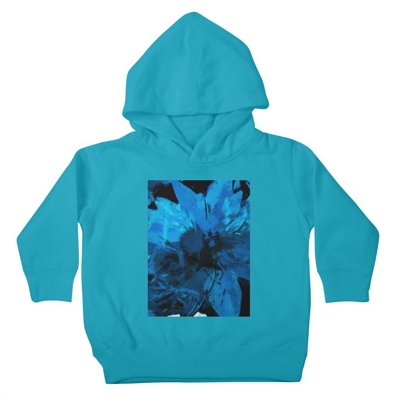 Big Blue Flower Kids Toddler Pullover Hoody by jackievano's Artist Shop