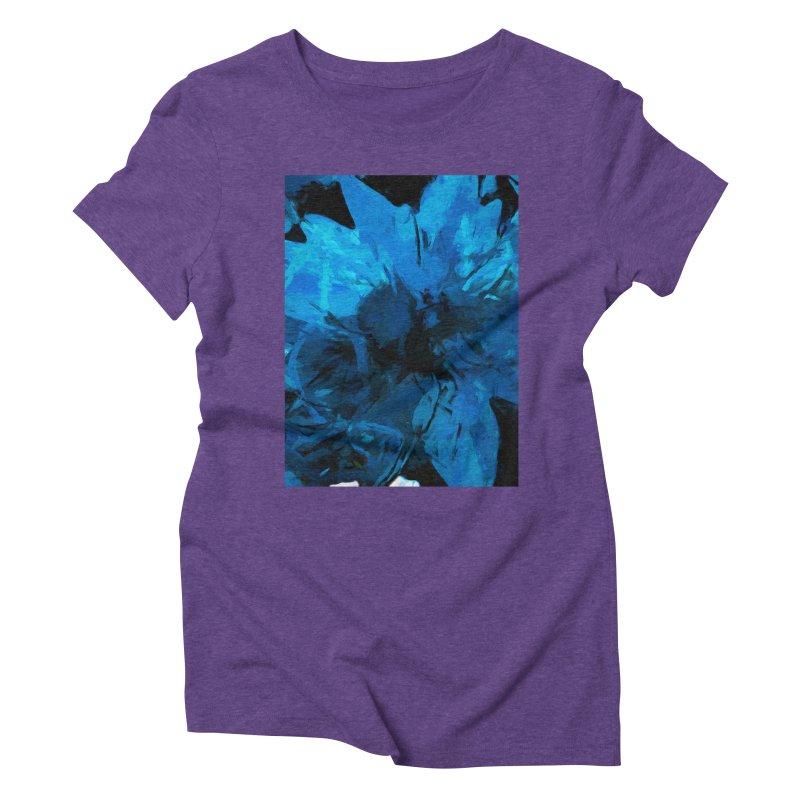 Big Blue Flower Women's Triblend T-Shirt by jackievano's Artist Shop