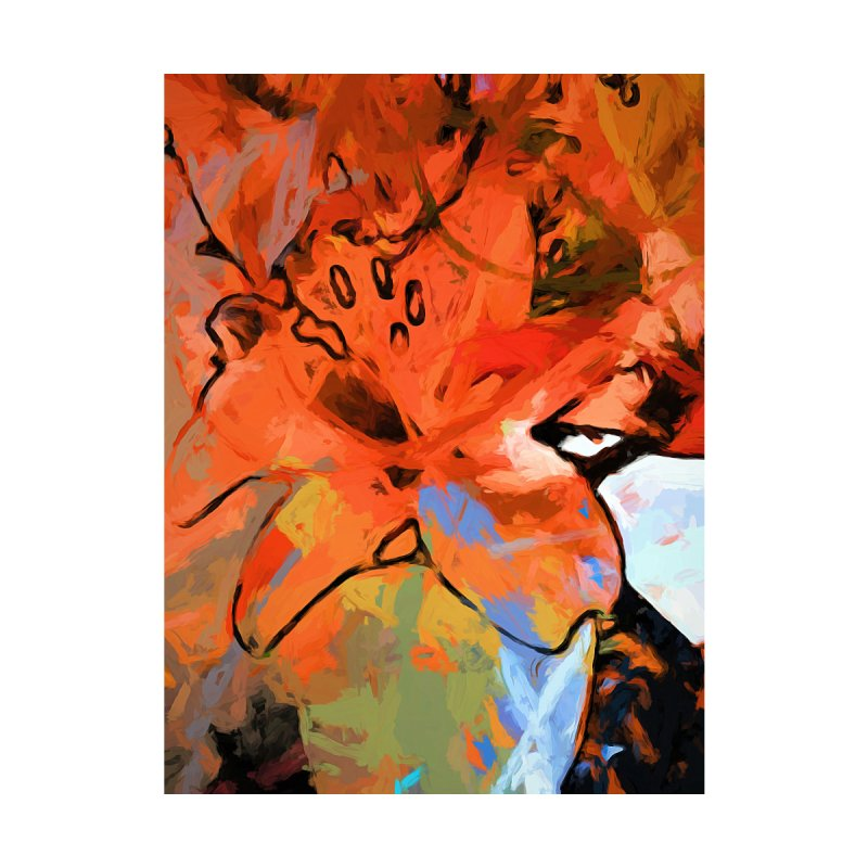 Orange Lily Blue by jackievano's Artist Shop