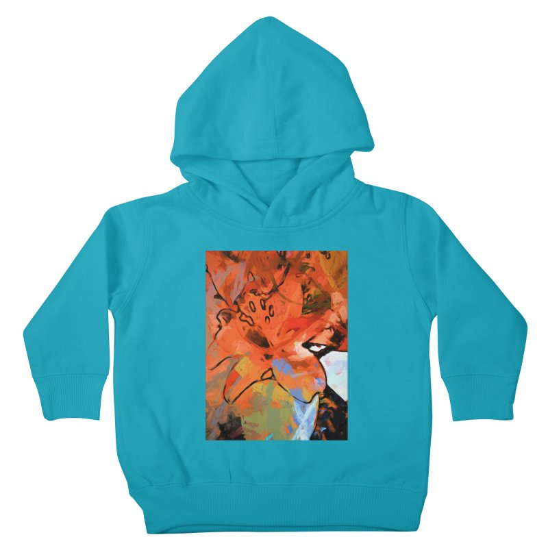 Orange Lily Blue Kids Toddler Pullover Hoody by jackievano's Artist Shop
