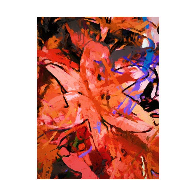 Orange Lily Purple by jackievano's Artist Shop