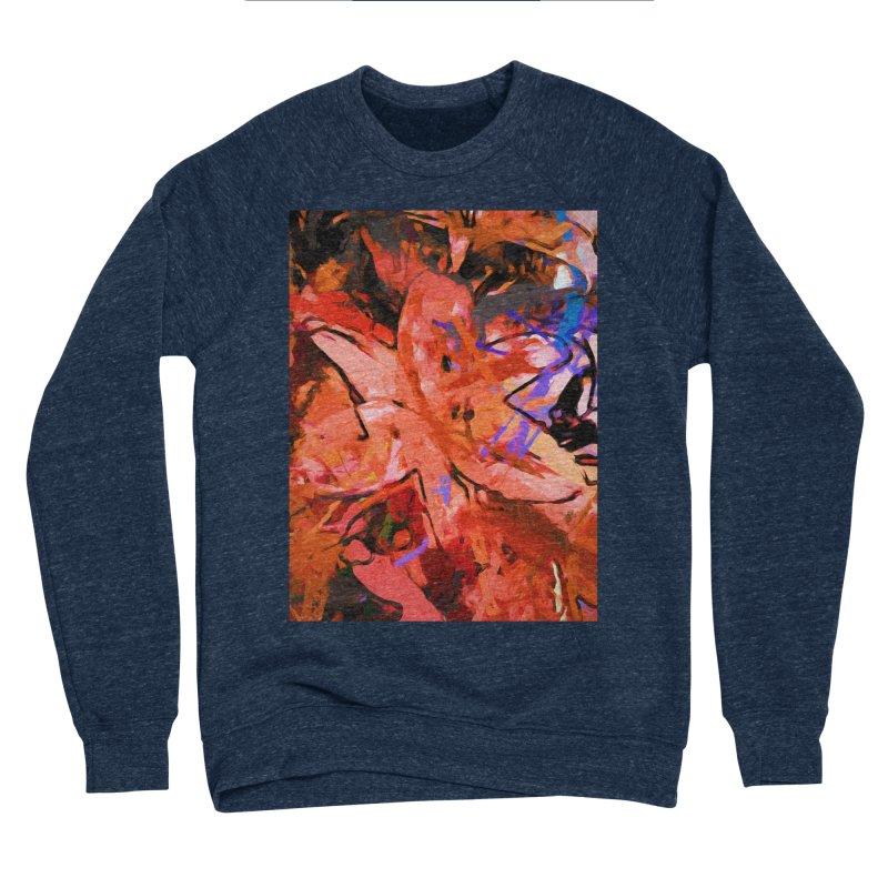 Orange Lily Purple Women's Sponge Fleece Sweatshirt by jackievano's Artist Shop