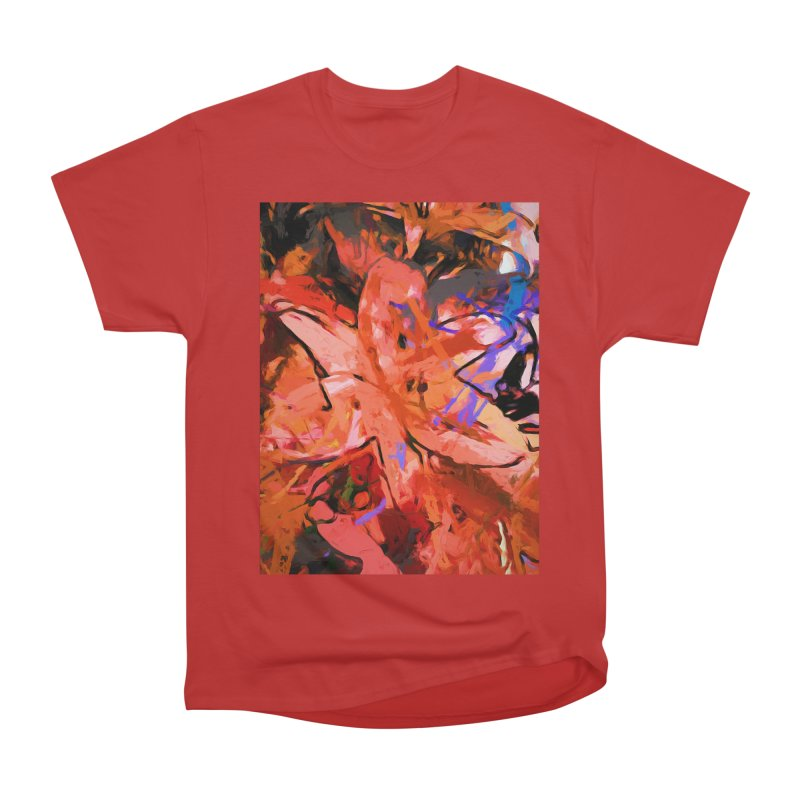 Orange Lily Purple Men's Heavyweight T-Shirt by jackievano's Artist Shop