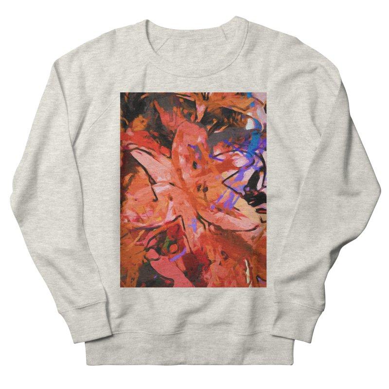 Orange Lily Purple Men's French Terry Sweatshirt by jackievano's Artist Shop