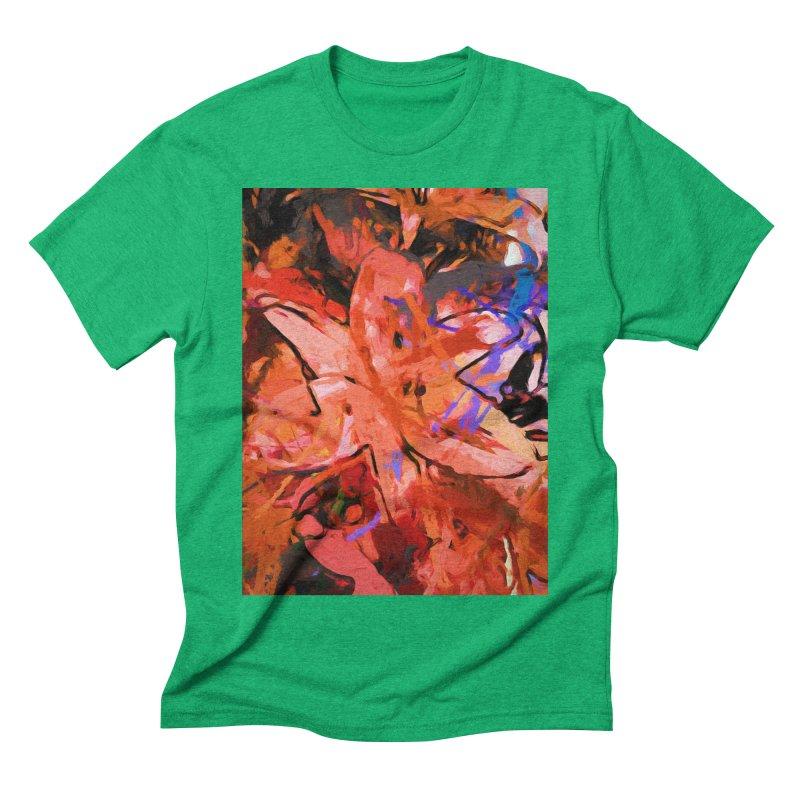 Orange Lily Purple Men's Triblend T-Shirt by jackievano's Artist Shop