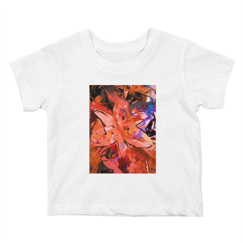 Orange Lily Purple Kids Baby T-Shirt by jackievano's Artist Shop