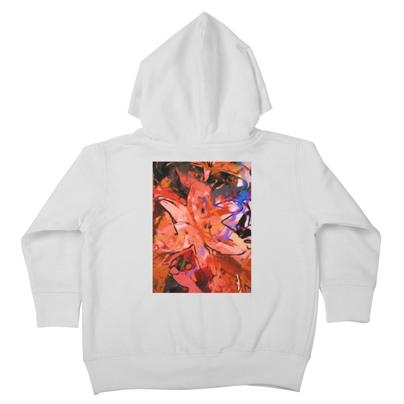 Orange Lily Purple Kids Toddler Zip-Up Hoody by jackievano's Artist Shop