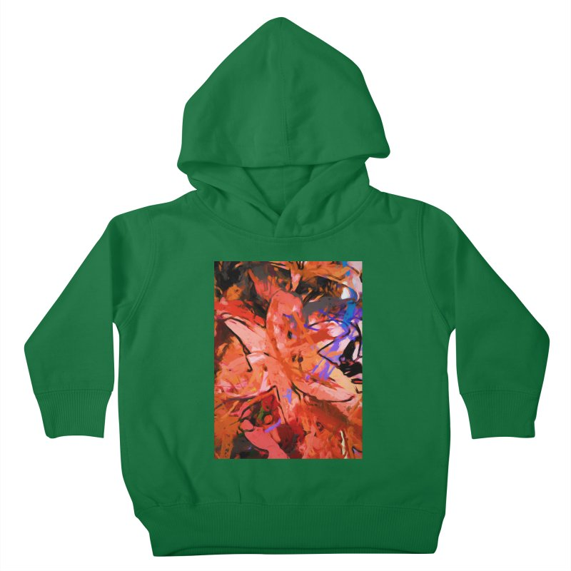 Orange Lily Purple Kids Toddler Pullover Hoody by jackievano's Artist Shop