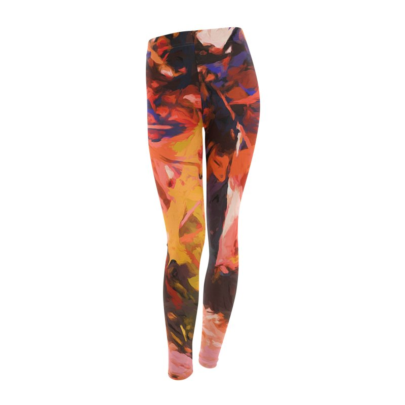 Fallen Lily Petals Women's Leggings Bottoms by jackievano's Artist Shop
