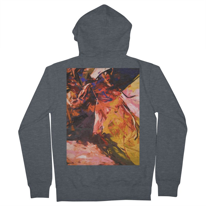 Fallen Lily Petals Women's French Terry Zip-Up Hoody by jackievano's Artist Shop