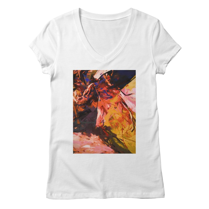 Fallen Lily Petals Women's Regular V-Neck by jackievano's Artist Shop