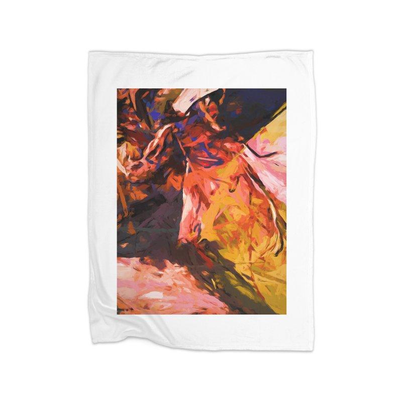 Fallen Lily Petals Home Blanket by jackievano's Artist Shop