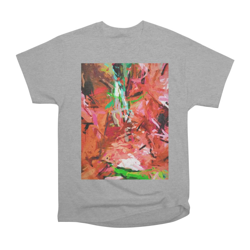 Orange Lily Green 1 Men's Heavyweight T-Shirt by jackievano's Artist Shop