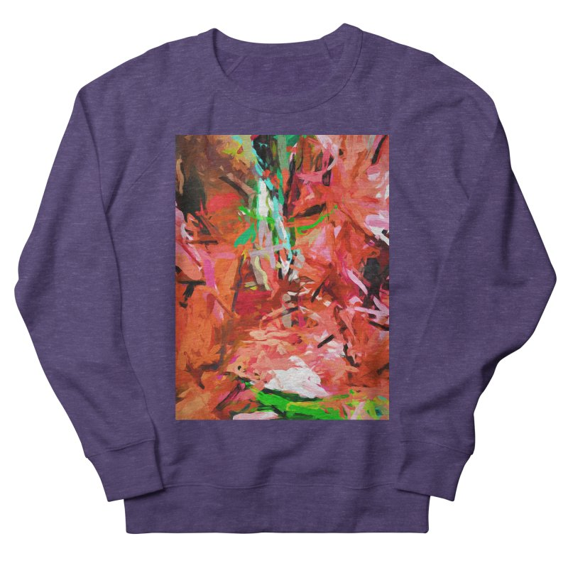 Orange Lily Green 1 Men's French Terry Sweatshirt by jackievano's Artist Shop