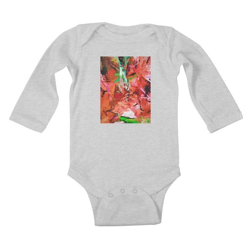Orange Lily Green 1 Kids Baby Longsleeve Bodysuit by jackievano's Artist Shop