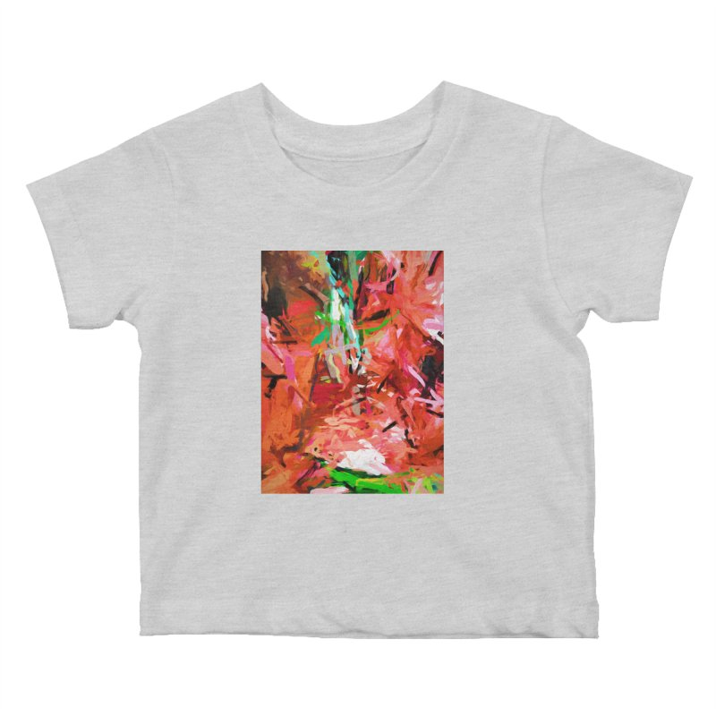 Orange Lily Green 1 Kids Baby T-Shirt by jackievano's Artist Shop