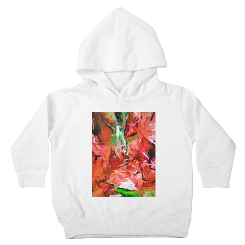Orange Lily Green 1 Kids Toddler Pullover Hoody by jackievano's Artist Shop