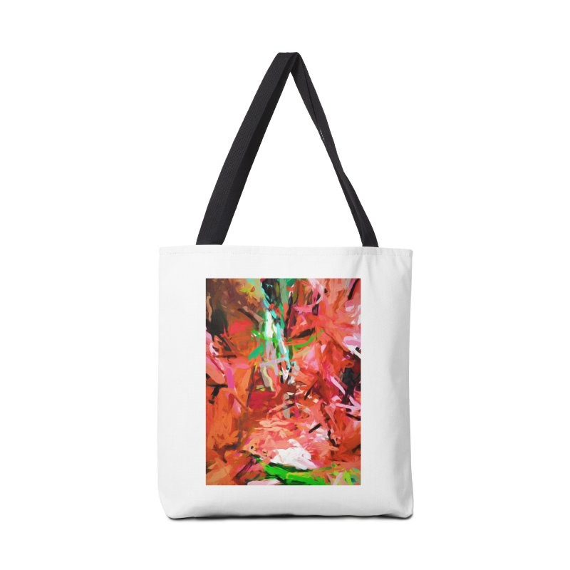 Orange Lily Green 1 Accessories Bag by jackievano's Artist Shop