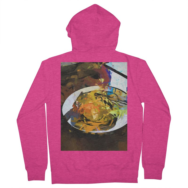 Fried Egg for Brekkie Women's French Terry Zip-Up Hoody by jackievano's Artist Shop