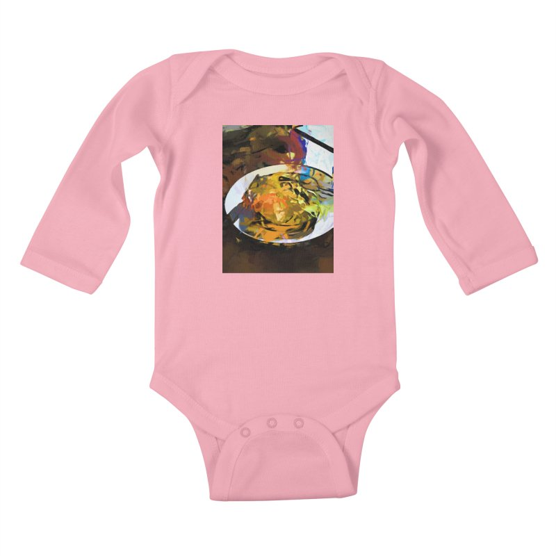 Fried Egg for Brekkie Kids Baby Longsleeve Bodysuit by jackievano's Artist Shop