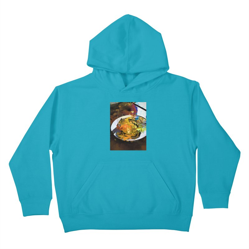 Fried Egg for Brekkie Kids Pullover Hoody by jackievano's Artist Shop