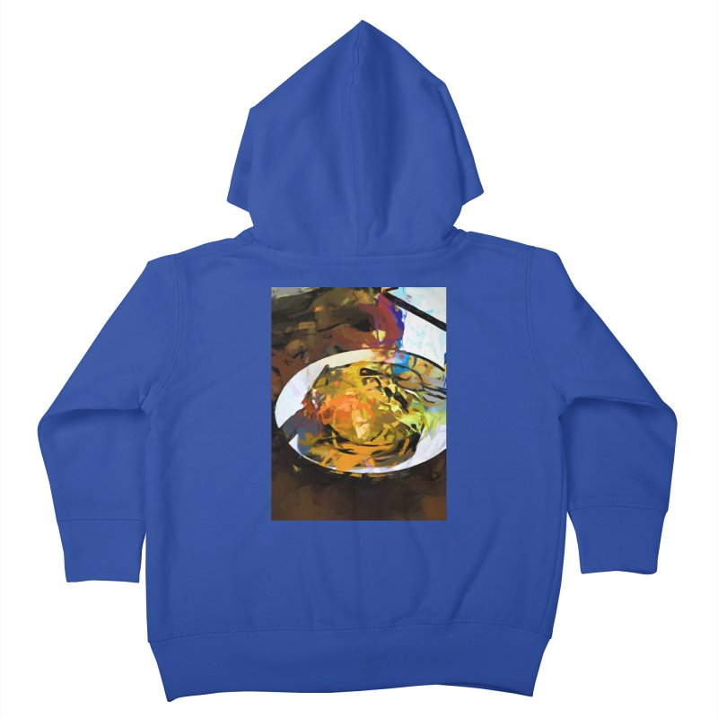 Fried Egg for Brekkie Kids Toddler Zip-Up Hoody by jackievano's Artist Shop