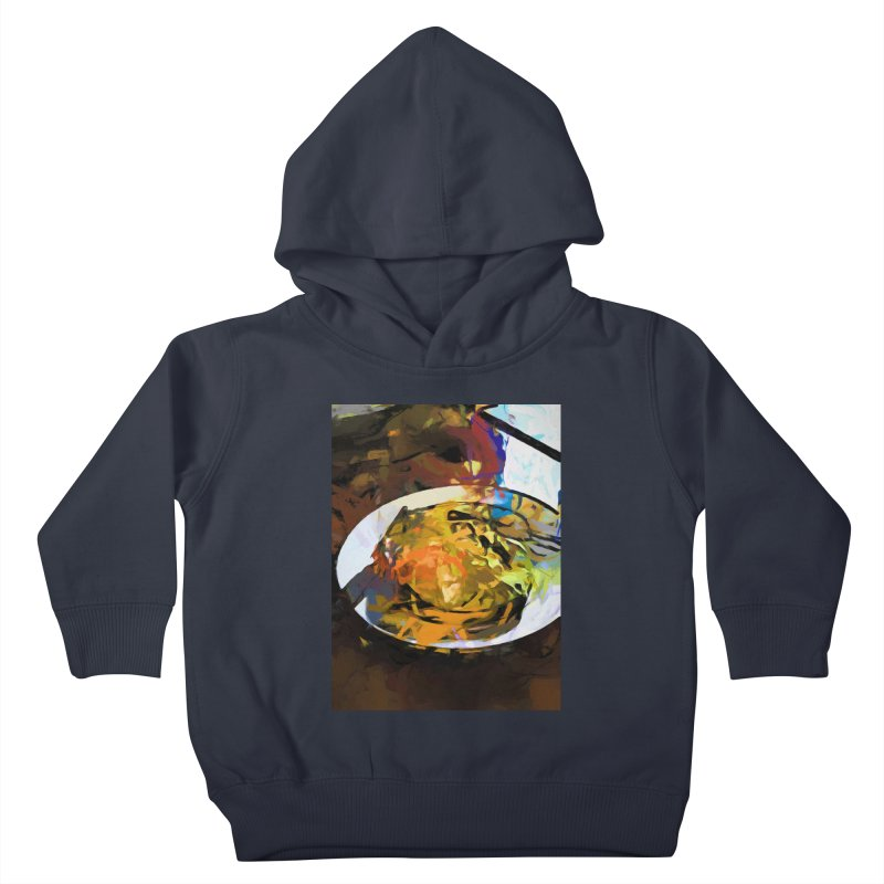Fried Egg for Brekkie Kids Toddler Pullover Hoody by jackievano's Artist Shop