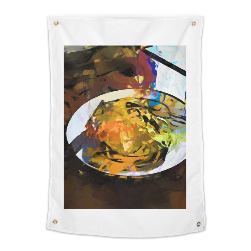 Fried Egg for Brekkie Home Tapestry by jackievano's Artist Shop