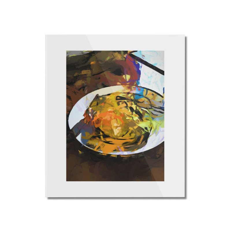 Fried Egg for Brekkie Home Mounted Acrylic Print by jackievano's Artist Shop
