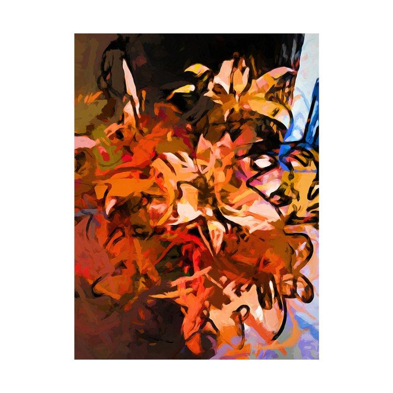 Maelstrom of Orange Lily Flowers by jackievano's Artist Shop