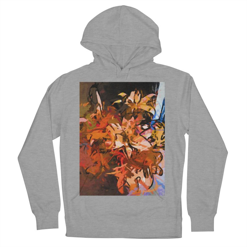 Maelstrom of Orange Lily Flowers Women's French Terry Pullover Hoody by jackievano's Artist Shop