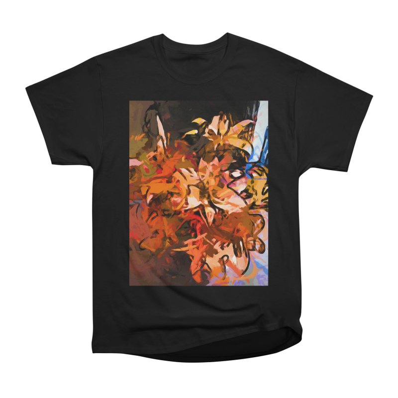 Maelstrom of Orange Lily Flowers Men's Heavyweight T-Shirt by jackievano's Artist Shop