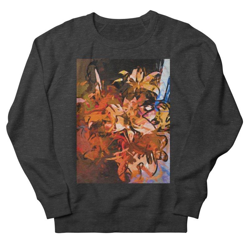 Maelstrom of Orange Lily Flowers Men's French Terry Sweatshirt by jackievano's Artist Shop