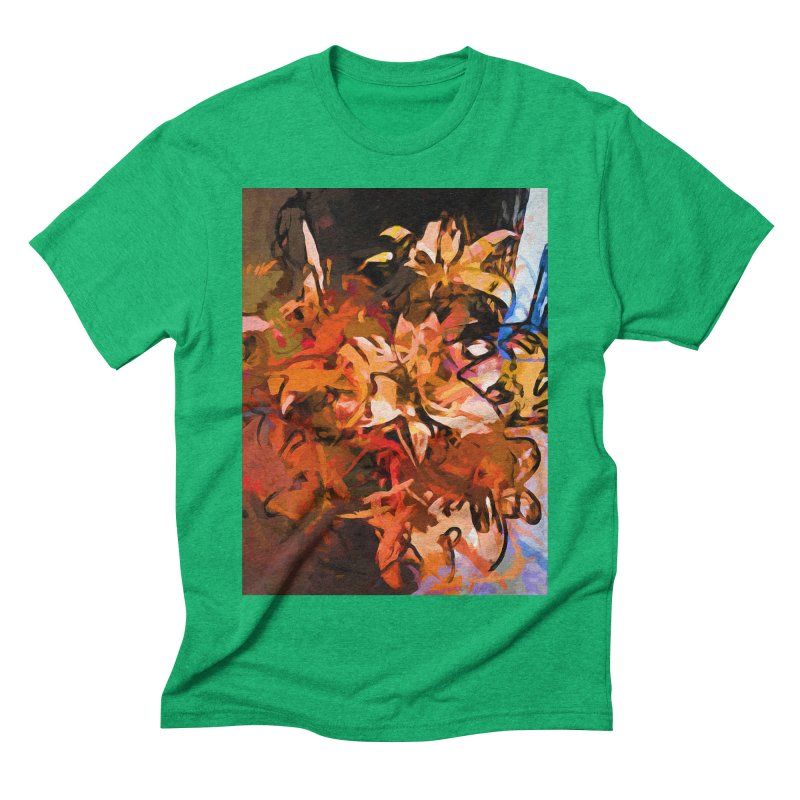 Maelstrom of Orange Lily Flowers Men's Triblend T-Shirt by jackievano's Artist Shop