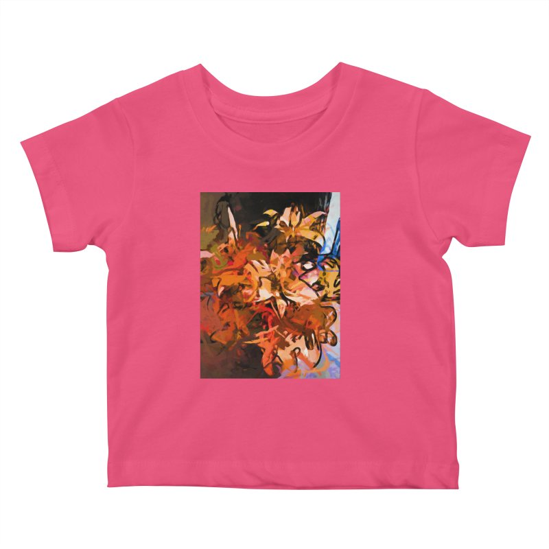 Maelstrom of Orange Lily Flowers Kids Baby T-Shirt by jackievano's Artist Shop